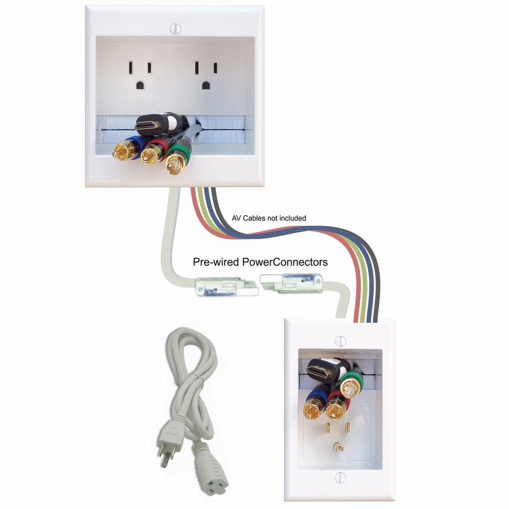 Miraculous Powerbridge Two Ck In Wall Dual Power Cable Management Kit For Wiring 101 Tzicihahutechinfo