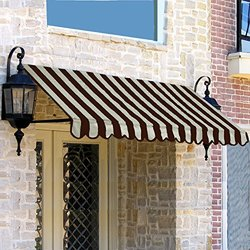 "Awntech 24"" x 42"" 5-Feet Dallas Retro Window/Entry Awning - Brown/Tan"