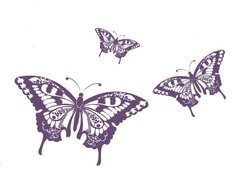 Surface Collective My Butterflies Wall Decal, Violet