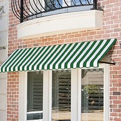 Awntech ER2442-10FW, Window/Entry Awning 10-3/8'W x 2'H x 3-1/2'D Forest Green/White