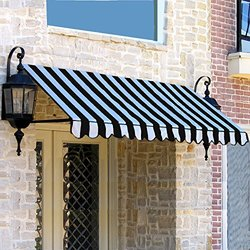 Awntech ER2442-10KW, Window/Entry Awning 10-3/8'W x 2'H x 3-1/2'D Black/White