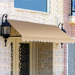 10 ft. Dallas Retro Window/Entry Awning (24 in. H x 42 in. D) in Linen
