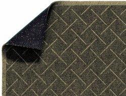 """Enviro 12' L x 3' W x 1/4""""T Diamond Weave Interior Wiper Floor Mat - Khaki"""
