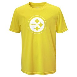NFL Pittsburgh Steelers Boy's Performance Tee - Neon Yellow - Size: M