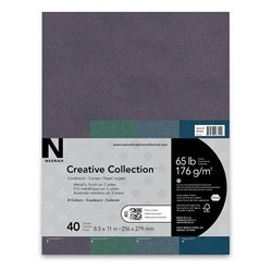 "Creative Collection Specialty Cardstock - 8.5 X 11"" Emerald/Black - 4 pack"