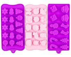 Sylvia's Healthy BPA-Free  Silicone Candy Molds - 3-Pack