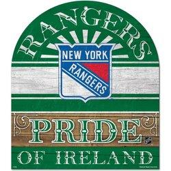 "Wincraft 10"" x 11"" New York Rangers Pride of Ireland Wood Sign"