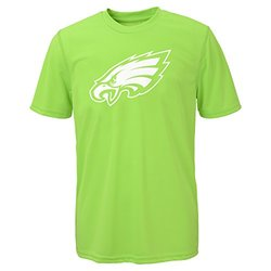 NFL Boys Philadelphia Eagles Performance Tee - Neon Green - Size: Medium
