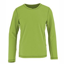 White Sierra Sunny Tee Long Sleeve - Girl's Kiwi