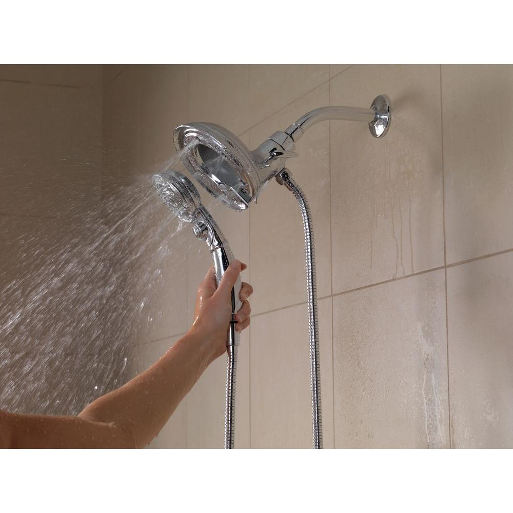 Delta In2ition 4-Spray Hand Shower and Shower Head Combo Kit ...