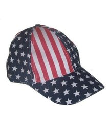Patriotic Red White and Blue 4th of July Baseball Hats Caps - 12 Pack