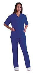 Natural Women's Medical Scrub Set - True Navy - Size: Small