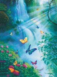 Butterflies in the Mist - Piece Jigsaw Puzzle By Sunsout Inc 3000