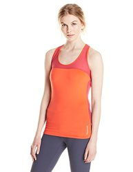 Reebok Women's One Series Graphic Tank Top, Vivid Tangerine, Large