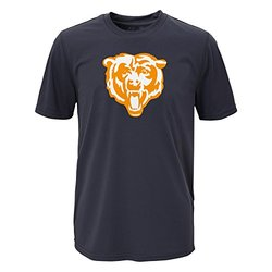 NFL Chicago Bears Boy's Performance Tee - Charcoal - Size: L (14-16)