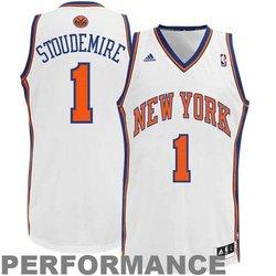Adidas Stoudemire NY Knicks Revolution 30 Swingman Jersey - White - M