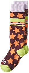 Hot Chillys Youth Allstar Mid Volume Socks, Medium, Allstar/Brite
