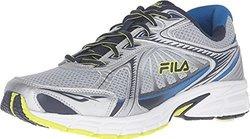 Fila Men's Omnispeed Metallic Silver/Fila Navy/Lime Punch Sneaker 12 D (M)