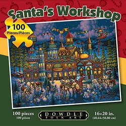 Jigsaw Puzzle - Santa's Workshop 100 Pc By Dowdle Folk Art