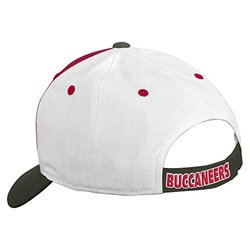 NFL Tampa Bay Buccaneers Boys 8-20 Color Block Adjustable Cap, Youth One Size, Red