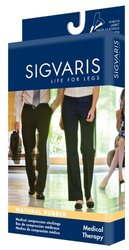 Sigvaris 500 Unisex Natural Rubber Open Toe Thigh High Socks - Beige / S2