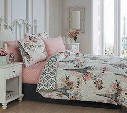 Cortez 5pc Comforter Set - Queen - Coral