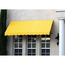 "Awntech? 10' Dallas Retro? Window/Entry Awning, 24"" x 42"", Light Yellow"