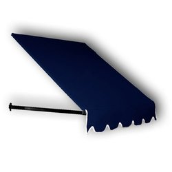 10 ft. Dallas Retro Window/Entry Awning (24 in. H x 42 in. D) in Navy