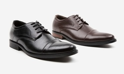 Oak & Rush Men's Randy Cap Toe Oxford Shoes - Black - Size: 11