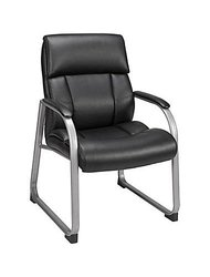 Staples Herrick Bonded Leather Guest Chair black