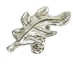 Carpe Diem Hardware 2085-24 Oak Leaf Platinum Oak Leaf Knob