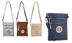 MKF Collection Women's Exceptional Crossbody Handbag - Red - Medium