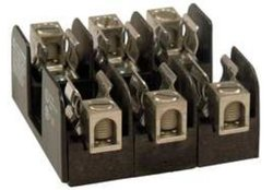 Mersen 20356 Class H and K Spring Reinforced Fuse Block with Box Connector, #4-14 Wire Range, 30 Ampere, 1 Pole