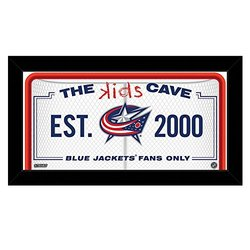 "Steiner Sports Columbus Blue Jackets 10"" x 20"" Kids Cave Sign Blj Team"
