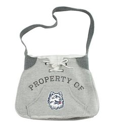 Little Earth NCAA Connecticut Hoodie Sling Bag - Grey