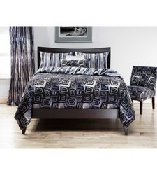 SIS Covers Cosmotech Duvet Cover Set - Grey - Size: Twin