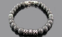 Blackjack Men's Semi-Precious Gemstone Bead Bracelets - Onyx