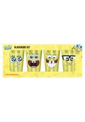 Nickelodeon SpongeBob Faces 4-Piece 16-ounces each Pint Set - Yellow