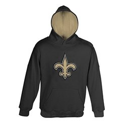 "NFL New Orleans Saints ""Primary"" Pullover Hoodie - Black - Size: Large"