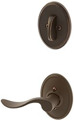 Schlage Lock Company F94ACC613WKFLH Oil Rubbed Bronze Interior Pack Accent Lever Left Handed Dummy Interior Pack with Deadbolt Cover Plate and Decorative Wakefield Rose