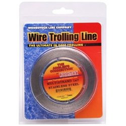 Woodstock 1x7 Stainless Steel Fishing Wire, 1000 Feet/of 90-Pounds (.024 DIA), Bright