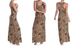 Urban Trends Women's Maxi Dresses - Leopard Print - Size: Small