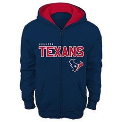 "NFL Youth Boys 8-20  Houston  TEXANS ""STATED"" F/Z FLC HOODIE -TMC DP Obsidian S (8)"