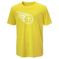 NFL Tennessee Titans Boys Performance Tee - Neon Yellow - Size: Medium