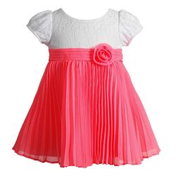 Youngland Baby Girl's Butterfly Tank Dress - White/Coral - Size: 18mo.