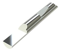 "Micro 100 QSP-500-3.0 Quick Change Split Blank, Solid Carbide Tool, 0.6250"" (15.9 mm) Split Length, 1.685"" (42.8 mm) Usable Neck, 0.5000"" (12.7 mm) Shank Diameter, 3"" (76 mm) Overall Length"
