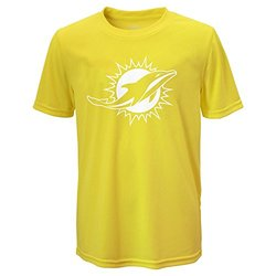 NFL Miami Dolphins Boy's Performance Tee - Neon Yellow - Size: L (14-16)