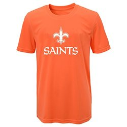 NFL New Orleans Saints Boys Performance Tee - Neon Orange - Size: M