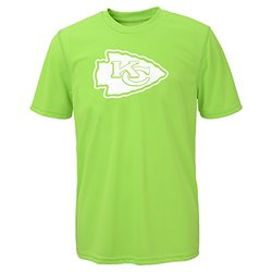 NFL Kansas City Chiefs Boys Performance Tee - Size: X-Large - Neon Green