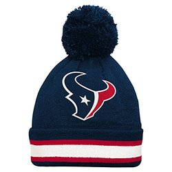 NFL Houston Texans Boys Cuffed Knit Hat with Pom - Dark Obsidian